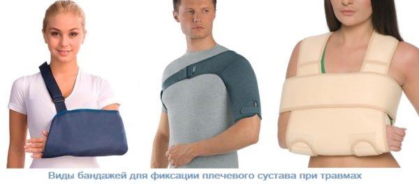 виды бандажей для фиксации плечевого сустава