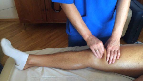массаж при артрите колена